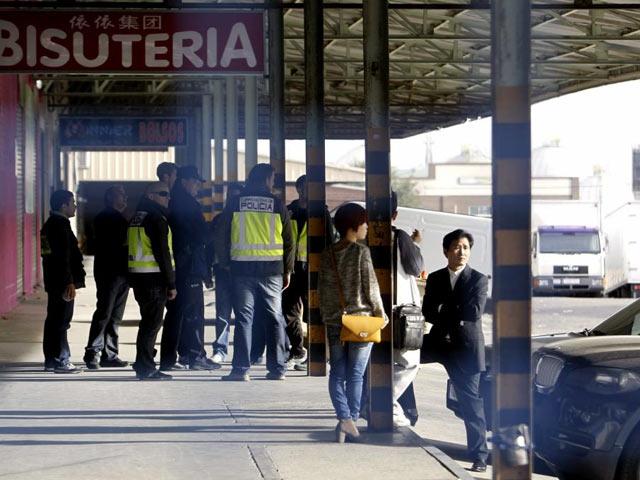 Registro policial en el Cobo Calleja durante la 'Operación Emperador'