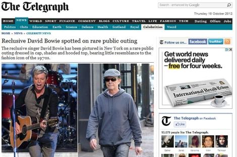 El Daily Telegraph ha publicado una imagen del cantante en Nueva York (d).