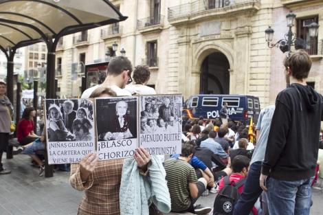 Manifestación de los estudiantes ante el TSJ de Valencia. | Vicent Bosch