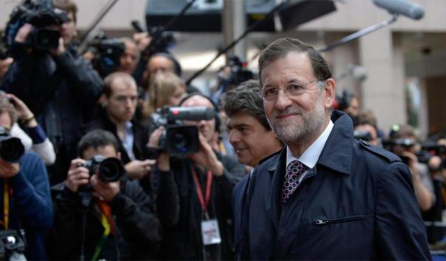 Rajoy, a su llegada al Consejo Europeo.   Reuters