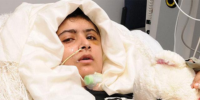Malala en el hospital. | Foto: Reuters
