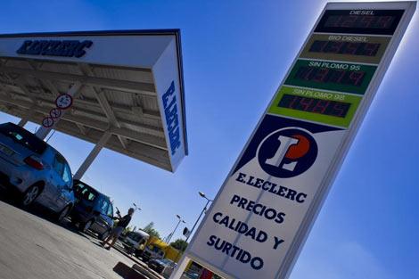 Gasolinera 'libre' en un hipermercado de Madrid. | Gonzalo Arroyo.
