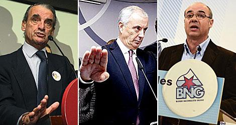 Mario Conde, Pachi Vázquez y Francisco Jorquera.   Efe