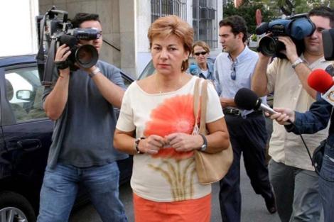 Dolores Vázquez, en 2003, en los juzgados de Fuengirola (Málaga). | Jesús Domínguez