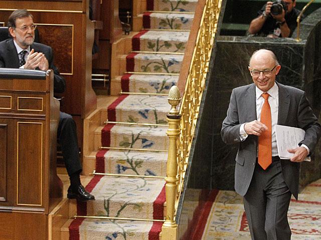 Montoro y Rajoy en el debate en el Congreso. | José Aymá
