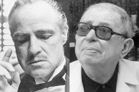 El actor Marlon Brando y el filósofo Jean-Paul Sartre, en 1972 y 1980, respectivamente.