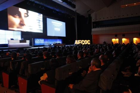 Auditorio del Palau de Barcelona, durante el congreso de Aecoc. | Roger Castellón