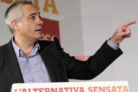 Pere Navarro , durante su intervención en la reunión del Consell Naciona. | Efel