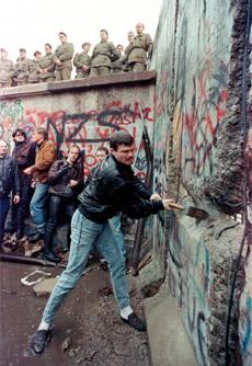 El muro en 1989. | Afp