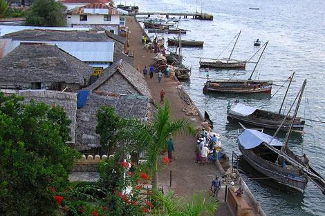 Puerto de Lamu, en Kenia.