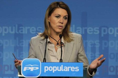La secretaria general del PP, María Dolores de Cospedal. | Foto: Efe / Kote Rodrigo.