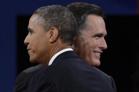 Barack Obama y Mitt Romney.| Efe