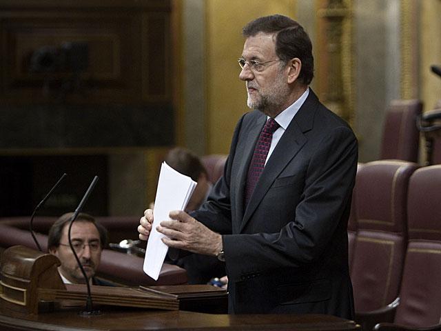 El presidente del Gobierno, durante su comparecencia. | Alberto Di Lolli