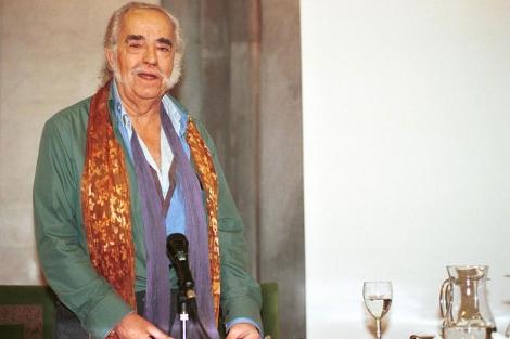 Agustín García Calvo, en un ciclo dedicado a Machado en 2010.