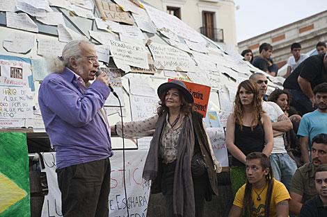 García Calvo, en una intervención en Sol durante el 15-M.   Sol Salama