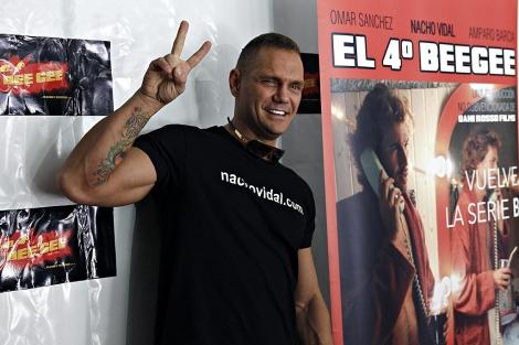 Nacho Vidal en la presentación del '4º Bee Gee'.   Efe