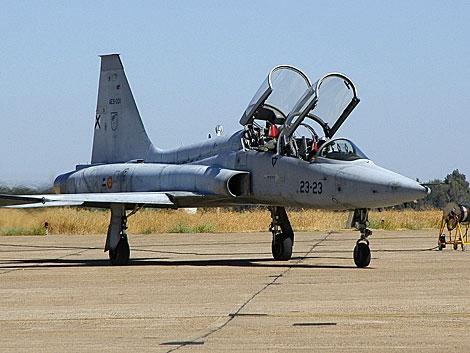 Un avión F5 del Ejército del Aire como el accidentado. | Efe