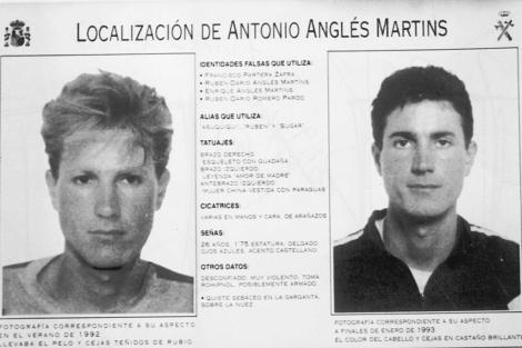 Cartel policial de localización de Antonio Anglés. | Efe