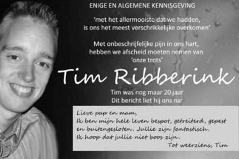 El joven Tim Ribberink. | Facebook