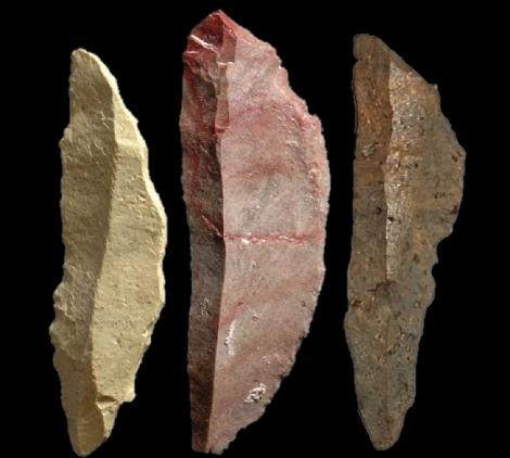 Piedras con las que fabricaban las armas. | Nature
