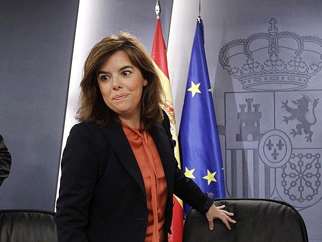 Soraya Sáenz de Santamaría, después del Consejo de Ministros. | Chema Moya / Efe