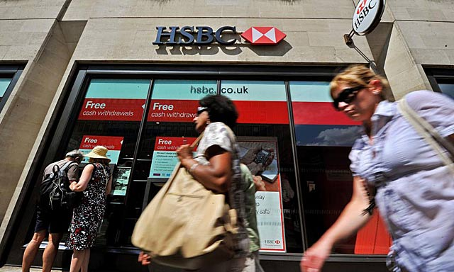 Imagen de una sucursal del HSBC en Londres. | Afp