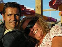 Amaia Egaña y su marido. | Facebook