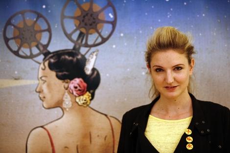 La directora Gabriela Pichler, en la presentación de 'Eat Sleep Die'. | E. Lobato