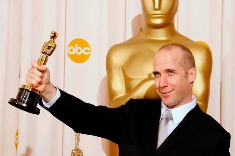 Michael Arndt, tras recibir el Óscar en 2006.