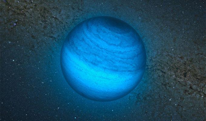 Impresión artística del planeta errante. | ESO