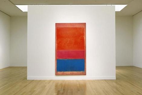 'No.1 (Royal red and blue)', en una exposición.