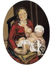 'Maternidad oval' (1921-1922).
