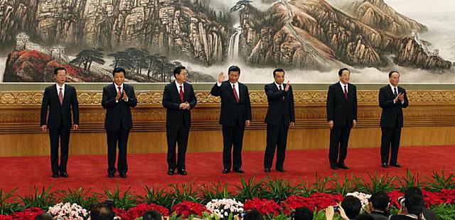 Zhang Gaoli, Liu Yunshan, Zhang Dejiang, Xi Jinping, Li Keqiang, Yu Zhengsheng y Wang Qishan. | Reuters