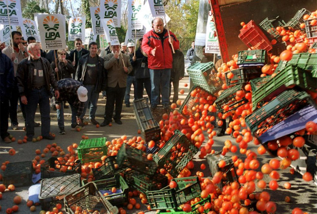 Protesta de agricultores en Andalucía. | Efe
