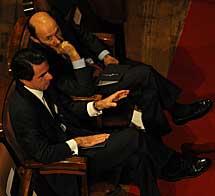 Aznar y Rubalcaba. | Afp