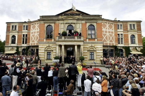 El Festspielhaus de Bayreuth, en verano de 2005. | AFP