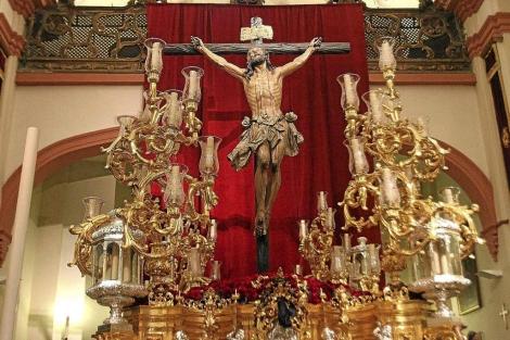 El Señor de la Expiración del Cachorro en su capilla del Patrocinio. | Carlos Márquez