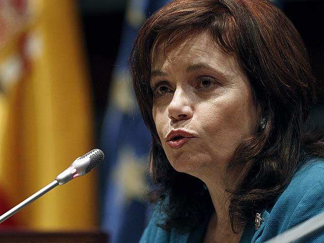 La presidenta del Observatorio contra la Violencia de Género, Inmaculada Montalbán, presentando el balance. | Ballesteros / Efe