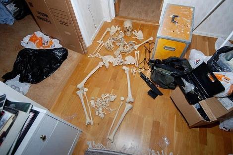 El esqueleto humano con el que la mujer sueca mantuvo relaciones. | Afp