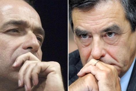 Jean-François Copé (i) y François Fillon (d). | Afp