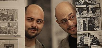 Los editores del fancine 'Adobo'.   Diego L.