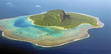 Una isla en el Pacífico Sur.   E.M.