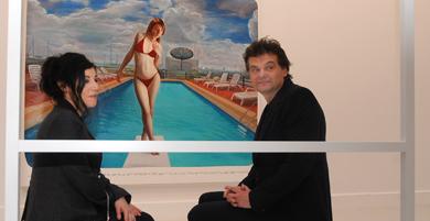 Markus Muntean y Adi Rosenblum en la exposición.   Nacho Alcalá