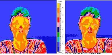 Una de las imágenes con termografía obtenida en la UGR.| EM