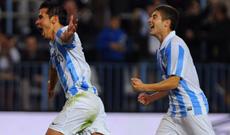 Saviola celebra su gol.  AFP