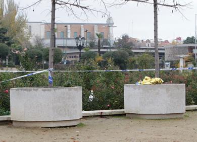 Parque de la Rosaleda, donde se encontró el cadáver. / J. M. LOSTAU