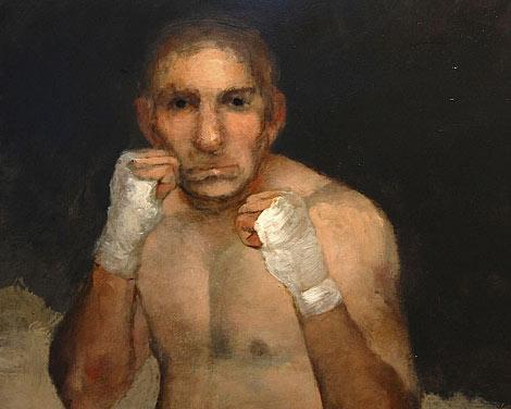 'El boxeador', cuadro de Miguel Macaya.