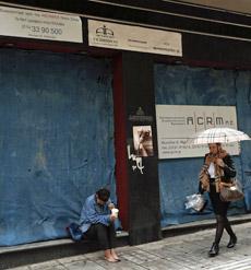 Mendiga en Atenas.   Reuters