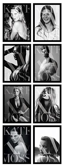 Portadas del libro 'Kate Moss'.