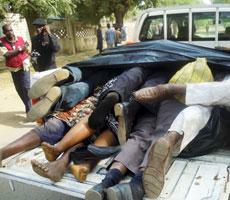 Víctimas de una matanza de la secta Boko Haram.   Afp